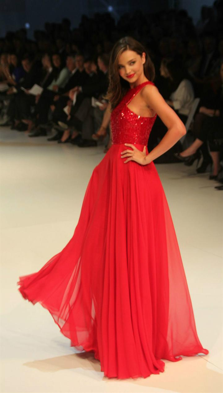 Aliexpress.com : Buy Miranda Kerr Celebrity Red Carpet Long Summer ...
