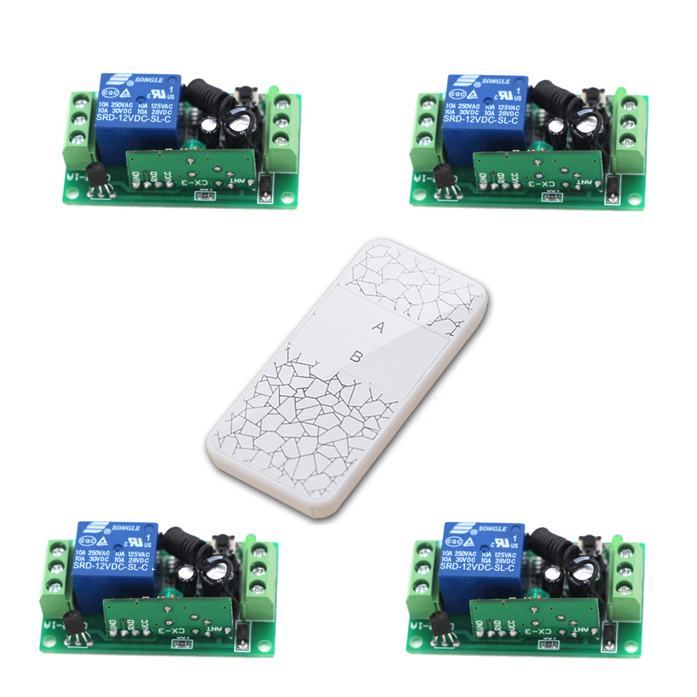 DC 9V 24V RF Wireless Remote Control Switch DC 12V Remote Switch System 1CH 10A Relay Receiver W/ Transmitter 315/433Mhz rf wireless remote control switch system 10a relay receiver dc 9v 12v 24v remote switch 315 433mhz