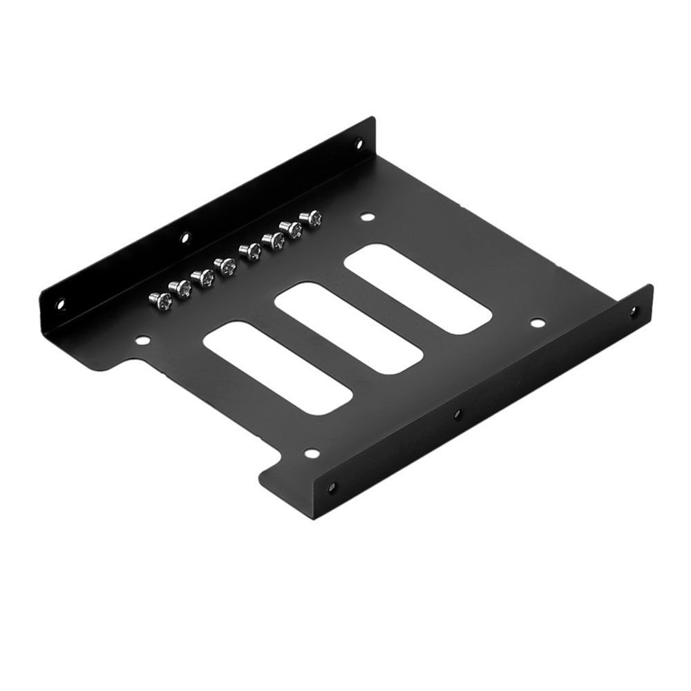 SSD Tray 2.5 inch to 3.5 inch SSD HDD Adapter Bracket Metal Mounting Kit Bracket Dock Hard Drive Holder For Desktop PC 100% brand new metal 2 5 inch ssd hdd to 3 5 inch metal mounting adapter bracket dock for pc ssd black moulde