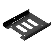 SSD Tray 2.5 inch to 3.5 inch SSD HDD Adapter Bracket Metal Mounting Kit Bracket Dock Hard Drive Holder For Desktop PC(China)