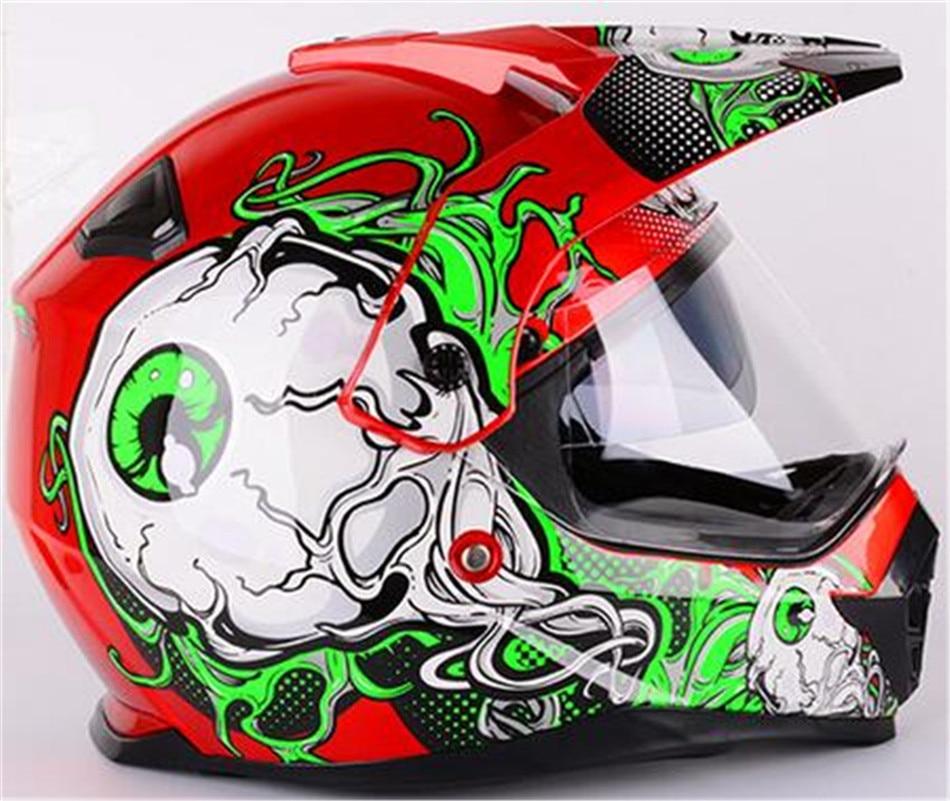 new arrival Brand WANLI motocross helmet double lens off-road motorcycle helmet Men's Dirt Bicycle capacete DOT Approved