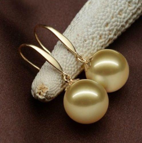 Livraison gratuite 00322 charmingh mer du sud une paire de 10-11mm or perle boucle doreille 14 kLivraison gratuite 00322 charmingh mer du sud une paire de 10-11mm or perle boucle doreille 14 k