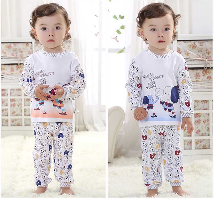 Long Pants + T shirt Baby Boy Clothes Set Baby Girl Clothing Set Infant Clothing Toddler Outfit 2017 New Fashion Cotton baby fox print clothes set newborn baby boy girl long sleeve t shirt tops pants 2017 new hot fall bebes outfit kids clothing set