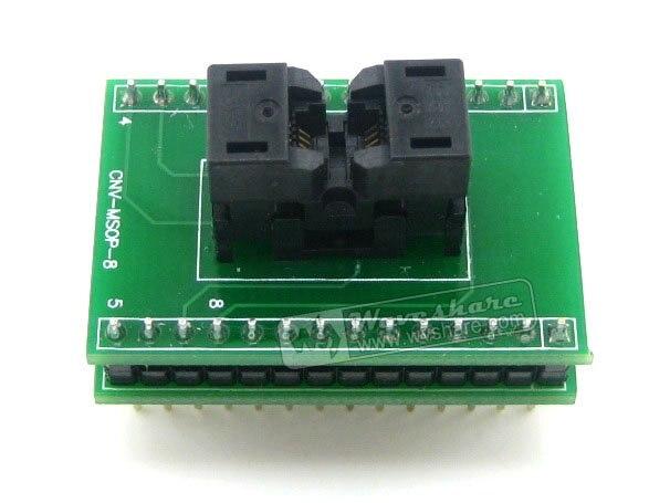 MSOP8 à DIP8 # SSOP8 TSSOP8 Wells adaptateur de programmation de prise de Test IC pas de 0.65mm