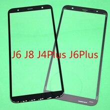 10 قطعة استبدال LCD جبهة شاشة تعمل باللمس الزجاج الخارجي عدسة لسامسونج غالاكسي J6 J600 J8 J800 J810 J4 زائد j6 زائد J410 J415