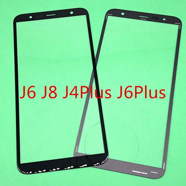 10Pcs החלפת LCD קדמי מגע מסך זכוכית חיצונית עדשה לסמסונג גלקסי J6 J600 J8 J800 J810 J4 בתוספת j6 בתוספת J410 J415