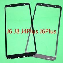 10Pcs Vervanging LCD Front Touch Screen Glas Outer Lens Voor Samsung Galaxy J6 J600 J8 J800 J810 J4 Plus j6 Plus J410 J415