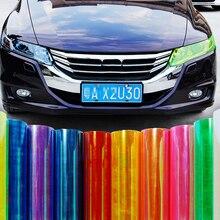 120 x 30 CM Car Light Headlight Taillight Tint Vinyl Film Sticker Sheet Light Black Car Light Color Changing Sticker