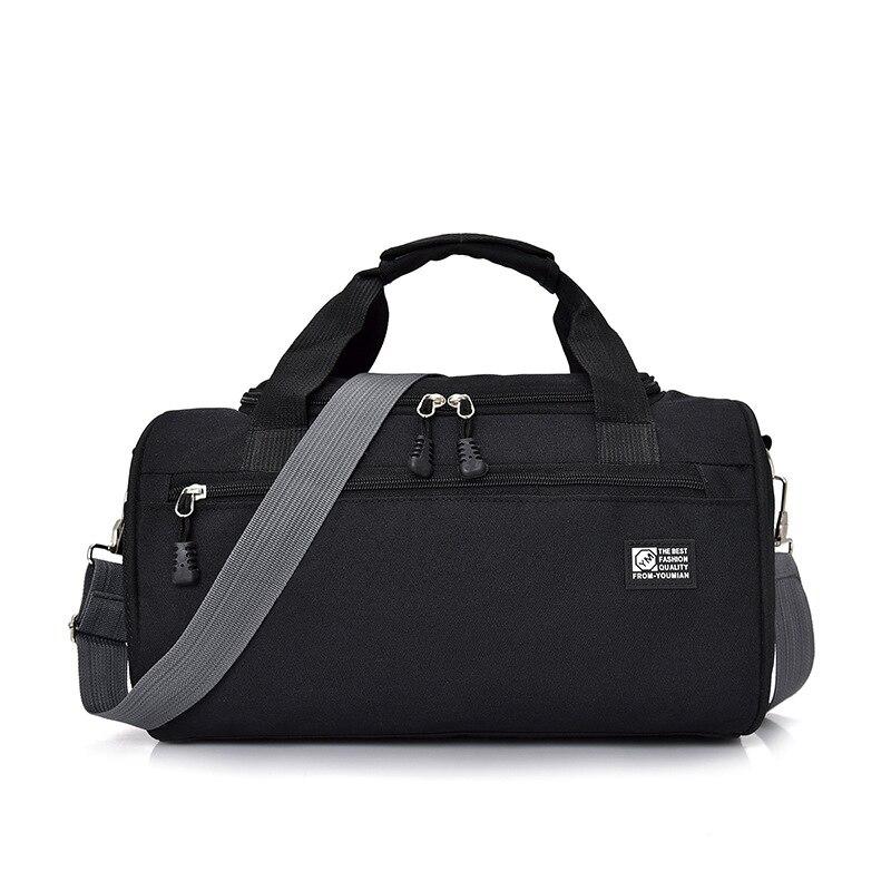 Scione мужские дорожные спортивная сумка легкая багажная деловая женская уличная спортивные сумки плечо Наплечная Сумка - Цвет: Black