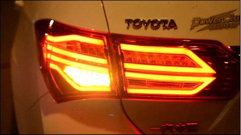 Free shipping for Vland factory car rear lamp for Toyota Corolla 2014 2015 2016 LED tail lamp universal pu leather car seat covers for toyota corolla camry rav4 auris prius yalis avensis suv auto accessories car sticks