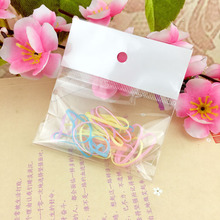 20pcs / pack Rubber Rope Ponytail Holder Elastic Hair Bands Ties Braids Plaits hair clip