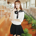 Japanese female students loaded sailor uniforms class service short-sleeved summer wind British navy suit COS