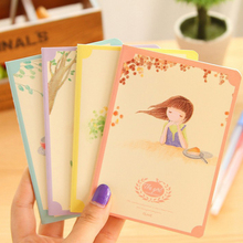 8pcs / lot 12.5 * 9cm Memories Time 64k Note Small Portable Diary Notebook Promotion
