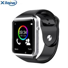 Xilaiw Bluetooth A1 Inteligentny Zegarek Relogio Android Smartwatch Telefon Zadzwonić SIM TF Kamera dla IOS Iphone Samsung Sport Watch Dzieci tanie tanio Polski Rosyjski Portugalski Hiszpański Angielski Niemiecki Włoski Francuski Turecki Elektroniczny Passometer Uśpienia tracker
