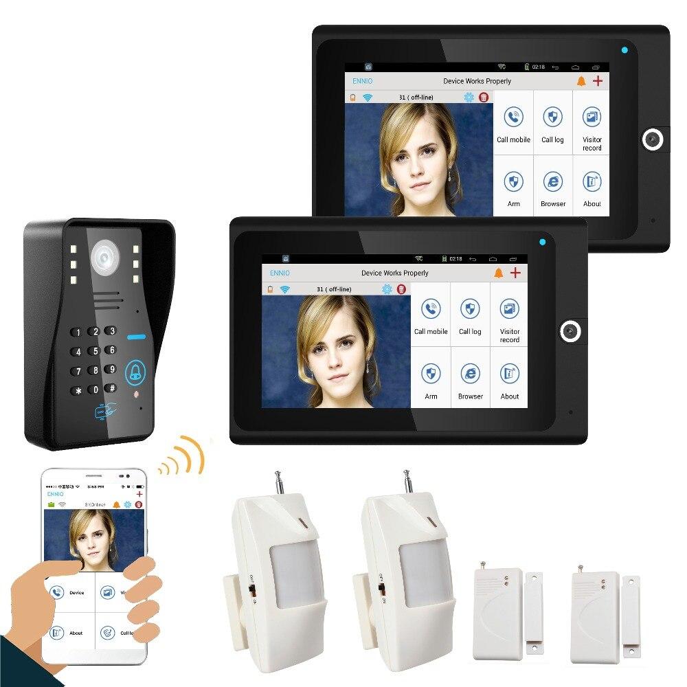 ENNIO 7 2 Monitor WiFi Wireless RFID Password Video Door Phone intercom Doorbell IP Camera IR