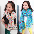 Hot sale 2016 autumn and winter children scarf baby girls/kids colorful dot cotton blended fashion scarf retail/wholesale