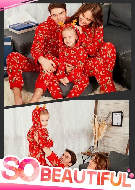 Conjunto De Pijamas A Juego De Familia De Navidad Mono Para Mujeres