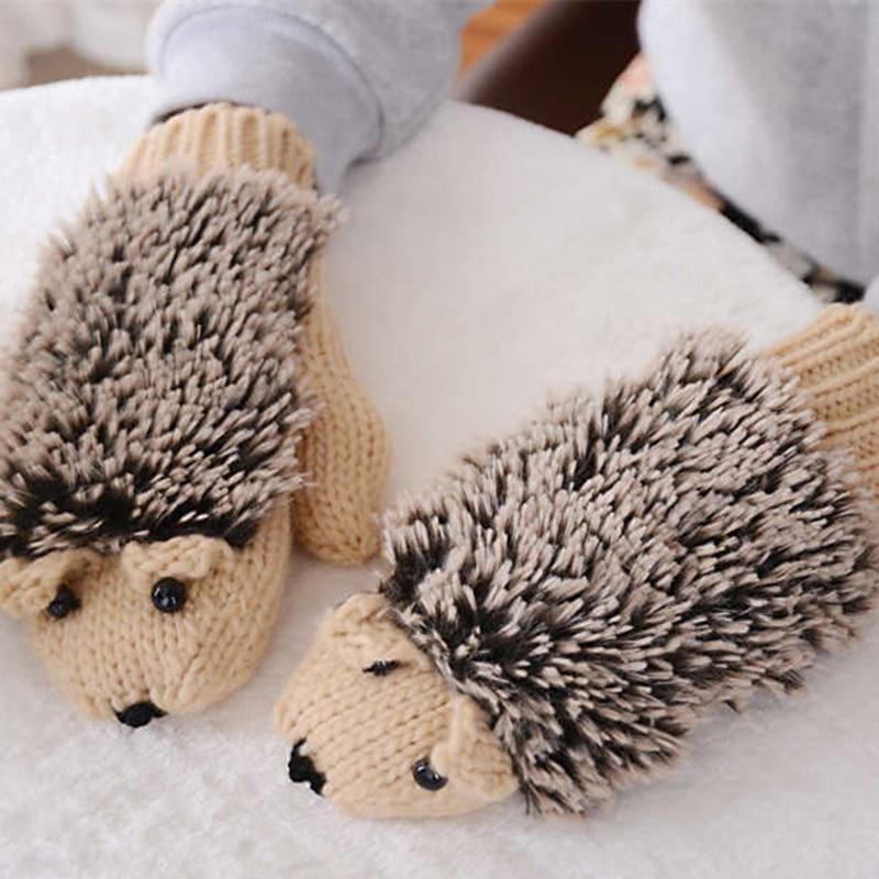 Bonjean Новый 9 Цвета Обувь для девочек Новинка животные зима теплая Прихватки для мангала для Для женщин вязать теплые Перчатки для фитнеса Е