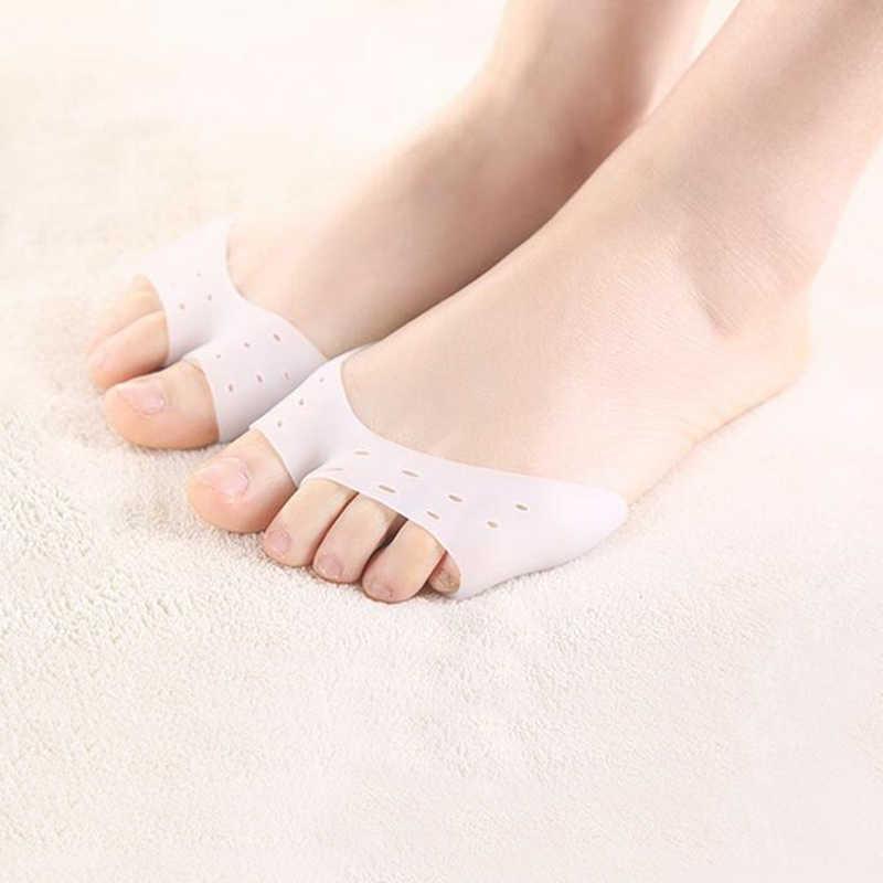 1 par de fundas de Gel de silicona con puntera para mujer protectores de pies suaves almohadillas para zapatos de Ballet con estilo herramienta de cuidado de P0109
