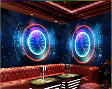 beibehang Wallpaper modern technology starry sky car dashboard custom 3d photo wallpaper papier peint mural