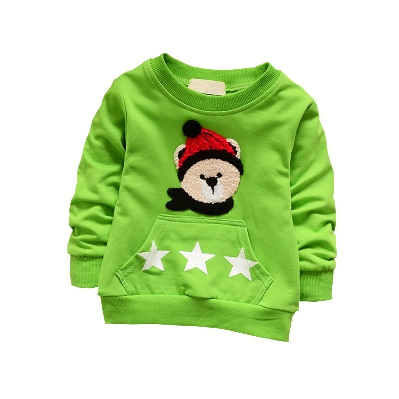 2018New Spring Autumn Fashion Sweatshirt Children Cartoon Kids Clothing Long Sleeve T Shirt Girls Boy Clothes Cotton Sports Suit