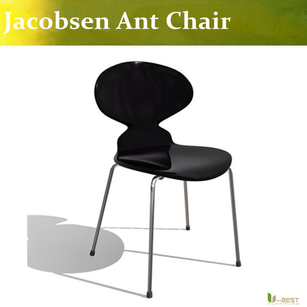 Free shipping U-BEST high quality modern designer Arne Jacobsen style chair ant chair ,bentwood chair plywood chair free shipping u best kitchen