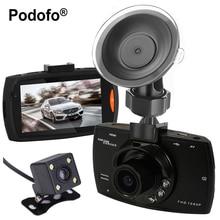 Cheaper Podofo Dual Cameras Car DVR G30 Dash Cam Full HD 1080P Video Recorder Registrator With Backup Rear View Camera Night Vision Dvrs
