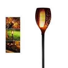 Светодиодный фонарь на солнечной батарее с эффектом пламени, водонепроницаемый, романтичный, мерцающий, светодиодный