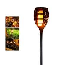 Đèn LED Năng Lượng Mặt Trời Ngọn Lửa Đèn Chống Nước Lãng Mạn Nhấp Nháy Tác Dụng Đèn Pin Đèn Trong Nhà LED Lửa Sáng Ngoài Trời Bãi Cỏ Trang Trí Sân Vườn