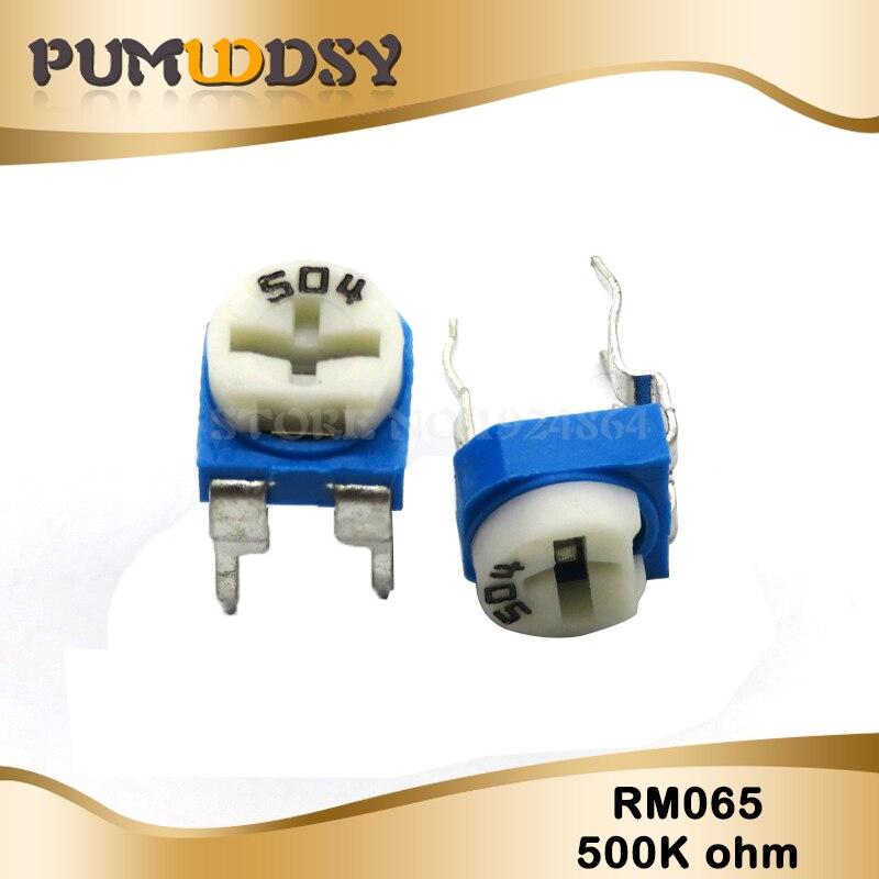 20PCS RM065 RM-065 500K Ohm 504 RM065-504 Trimpot Trimmer Potentiometer Variable Resistor