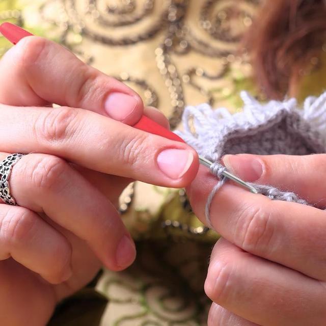 14 p s set Agulhas De Costura Ferramentas de Alum nio Crochet Hooks Agulhas Knit Weave