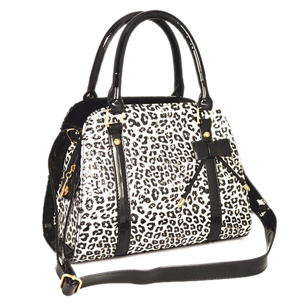 Women handbag pu leather shoulder bag fashion messenger Bags handbags-black white leopard