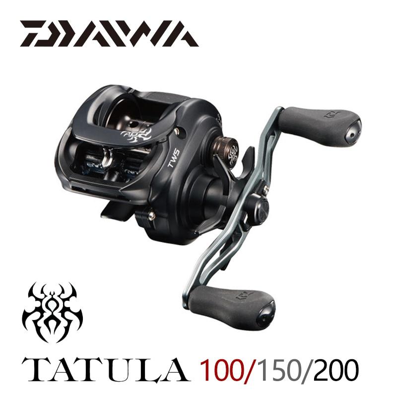 2019 DAIWA TATULA 100 150 200 carrete de pesca Baitcasting carrete MAX arrastre 5 kg/6 kg de pesca de bajo perfil carrete de fundición 7BB + 1RB