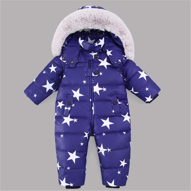 Russia Winter kids Snowsuit Romper 12M-4T Baby jumpsuit Duck Down Jackets Thick Warm Overall Down Coats Boys Girl Kids ClothesRussia Winter kids Snowsuit Romper 12M-4T Baby jumpsuit Duck Down Jackets Thick Warm Overall Down Coats Boys Girl Kids Clothes