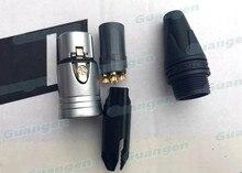 Conector macho de 30 Uds. De alta calidad, 60 uds./lote, macho + 30 uds, hembra, Neutrik Style XLR 3 pines Cannon