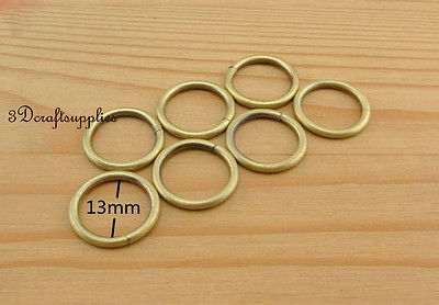 цены  metal O rings O-ring purse ring connector anti bronze 12 mm 1/2 inch 40pcs U123