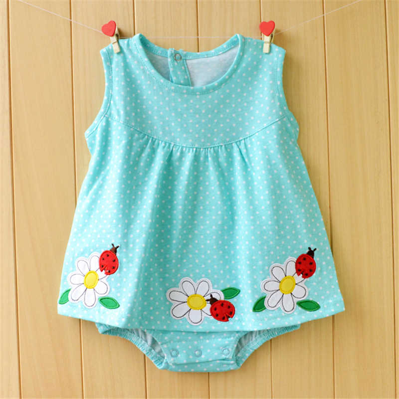 3f37db3ed2ecc Baby Girl Clothes 2017 Summer Baby Girls Rompers Cotton Newborn Baby  Clothes Cute Infant Baby Dress Flower Kids Clothing