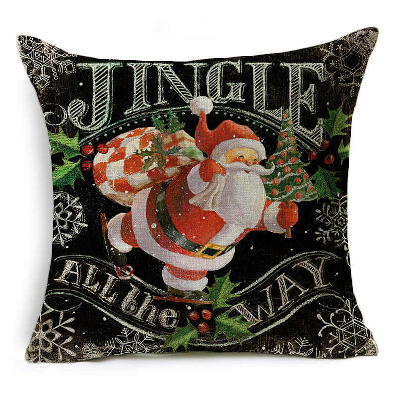 Detail Feedback Questions About Hyha Classical Xmas Cushion Cover