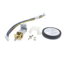 цена на DC 6V Encoder Motor Gear N20 Micro Gear Motor Electric Mini Motor with 34mm Wheel Screws Mounting Bracket Coupling Kit