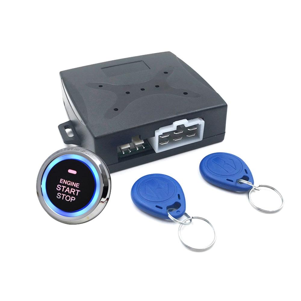 Keyless Entry Car Push Start Button Rfid Lock Engine: Auto Anti Theft Alarm System Car Engine Push Start Button