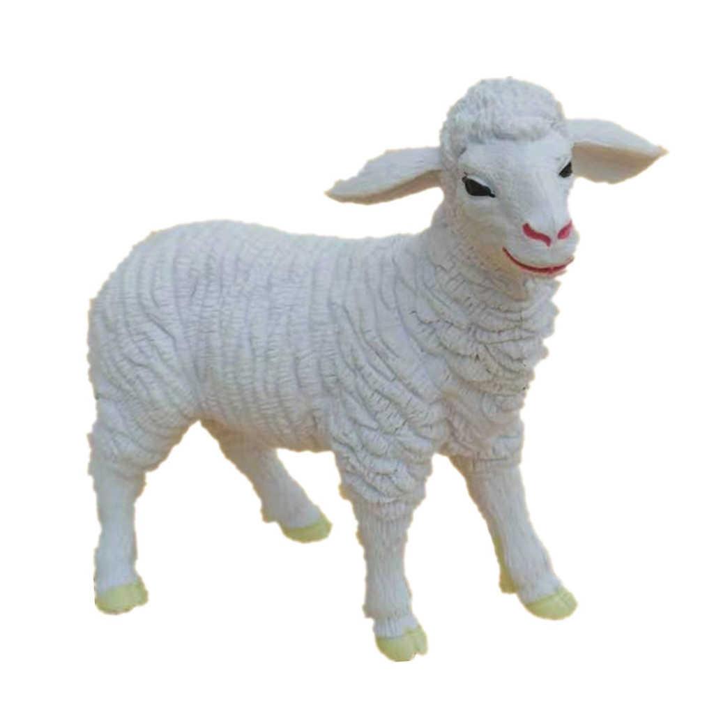 Artificiale Dipinto Farm Animals Figure di Apprendimento Giocattolo Fattoria Figurine Set di Animali da Fattoria Artigianato Casa di Bambole Scena di Vita Ornamenti