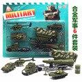 Juguetes para niños, juguetes de Aleación modelo de coche kit 6 Unids/set, modelos de aleación Militar, granadas de Tanque del coche
