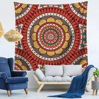 Hippie Tapestry Home Decorative Indian Mandala Wall Hanging Bohemian Beach Towel Tapestry Bedspread Louts Mandalas 200x150cm