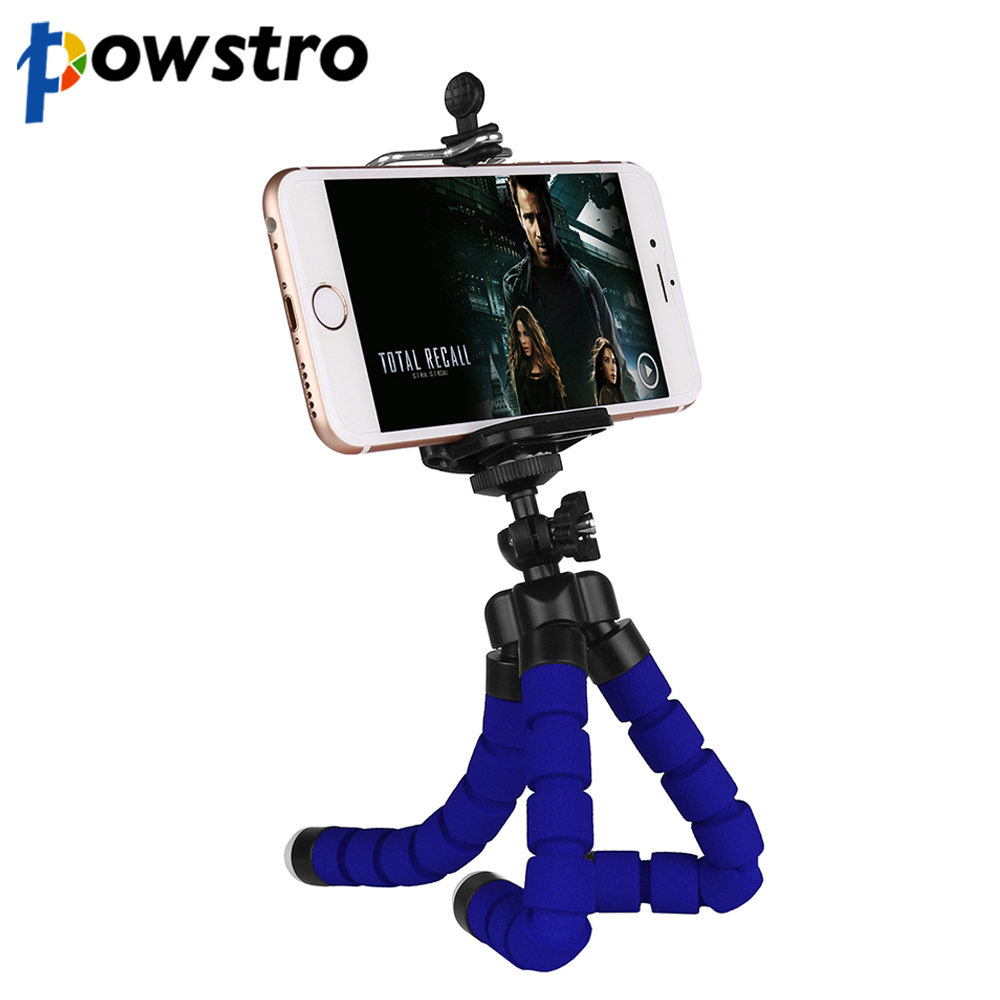 purchase cheap 243d3 5554f US $1.99 34% OFF|Powstro Mini Flexible Octopus Tripod Camera Phone Tripod  Stand 360 Degree Roating Head for iPhone 6 7 8 sumung XIAOMI Huawei-in ...