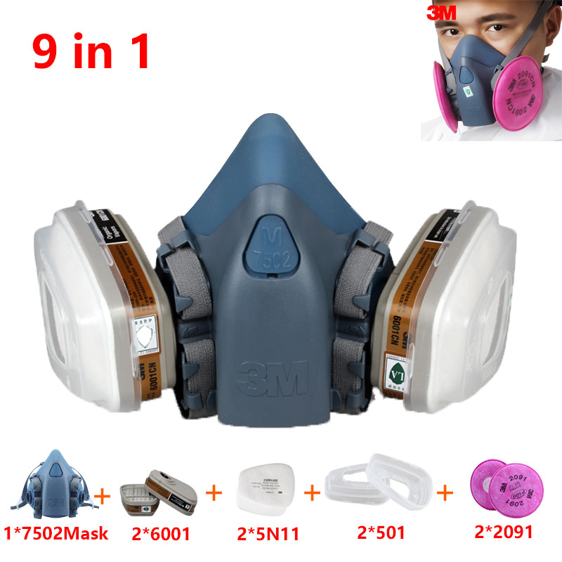 1pc 7502 Haif Facepiece Respirator Painting Spraying Face Gas Mask 6000 Series~ Without Return Back To Search Resultstools