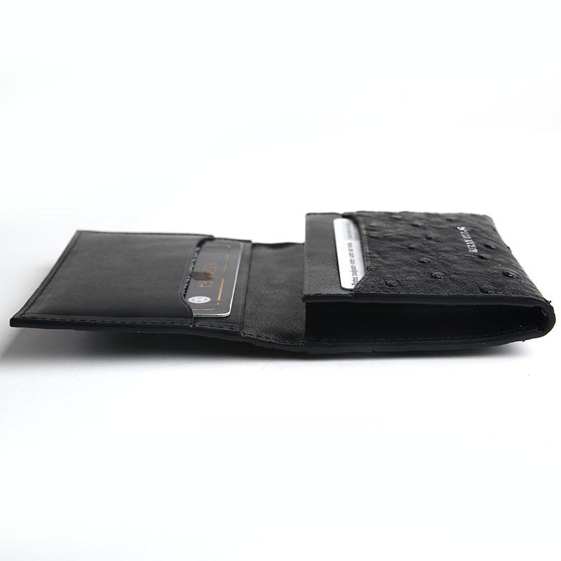 Hiram Beron Leather Business Card Holder Men Customized Ostrich ...