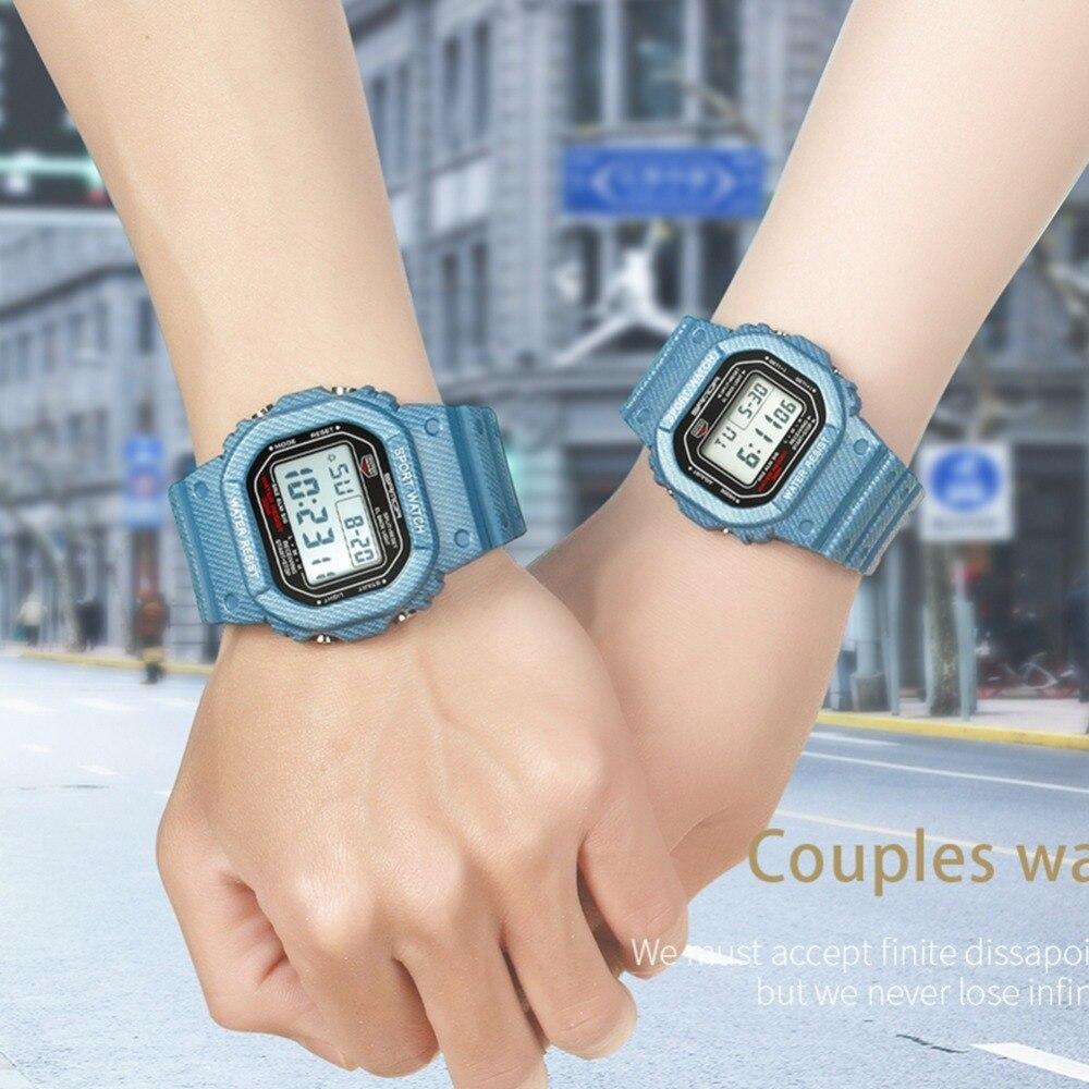 Outdoor Couple Watch Women Men Colorful Sports Digital Wristwatches Men Luminous Alarm Watch New 2019