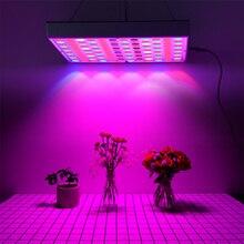 O espectro completo conduziu a lâmpada cresce para a planta 85 265 v 144 diodos emissores de luz 75leds uv ir phyto lâmpadas painel cresce a luz casa vaso crescimento da flor da planta