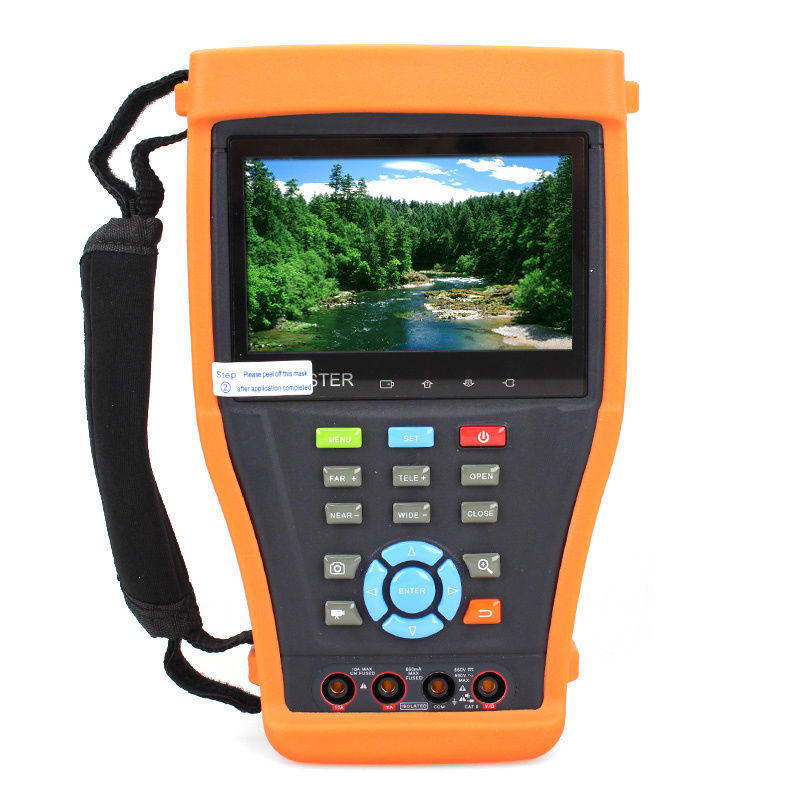 Free shipping! IPC-4300MVT 4.3 CCTV Camera Tester Multimeter Visual Fault locator TDR Test POE 7 ip camera cctv tester poe wifi dm optical power meter visual fault locator tdr sdi ipc 8600movts