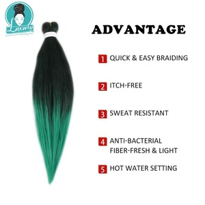 Image 2 - Luxury 10packs Bulk Buy Pre Stretched Braiding Hair Synthetic Hair Extensions 26inch Ombre color EZ braids